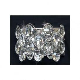 CF412181/02/WB/CH Raina 2 Light Crystal Wall Light Polished Chrome