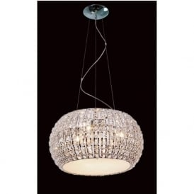 CFH905262/09/CH Rome 9 Light Crystal Ceiling Pendant Polished Chrome