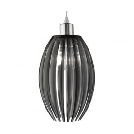 1157SM 1 Light Pendant Smoked Acrylic
