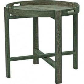 001PIR001 Piro Round Tray Table Oak Style Veneer