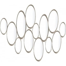 002SAM6578 Samos Gold Rectangle Mirror