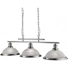 2683-3SS Bistro 3 Light Pendant Satin Silver