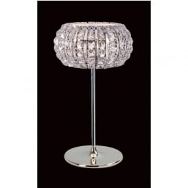 CFH905262/TL/CH Rome 3 Light Crystal Table Lamp Polished Chrome