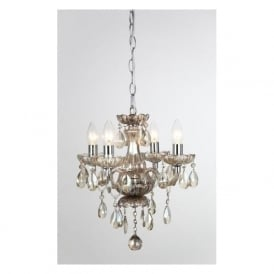 CF211093/04/CHA Rodeo 4 Light Crystal Chandelier Champagne Glass