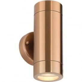 ST5008C Odyssey Outdoor IP65 2 Light Wall Light Copper
