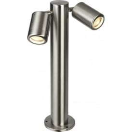 ST501245 Odyssey Outdoor IP65 2 Light Post Lamp Brushed Stainless (Tall)