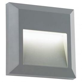 EL-40107 Severus Square LED Wall Light IP65 Grey