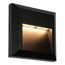 61219 Severus Square LED Wall Light IP65 Black