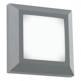 EL-40106 Severus Square LED Wall Light IP65 Grey