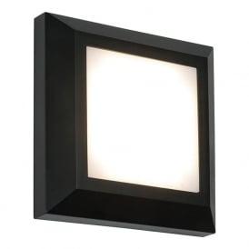 61218 Severus Square LED Wall Light IP65 Black