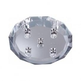 3504-4 Dallas 4 Light Semi-Flush Ceiling Light Polished Chrome