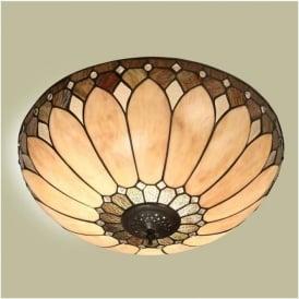 63973 Brooklyn 2 Light Flush Tiffany Ceiling Light
