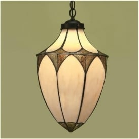 63974 Brooklyn 1 Light Large Tiffany Ceiling Lantern