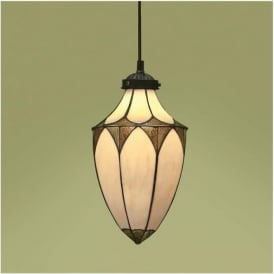63975 Brooklyn 1 Light Small Tiffany Ceiling Lantern
