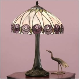 64177 Hutchinson 2 Light Tiffany Table Lamp
