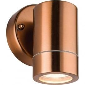 55637 Palin Outdoor IP44 1 Light Wall Light Copper