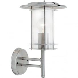 4478182 York Outdoor Wall Light Polished Steel IP44