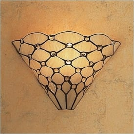 64302 Pearl 1 Light Tiffany Wall Light