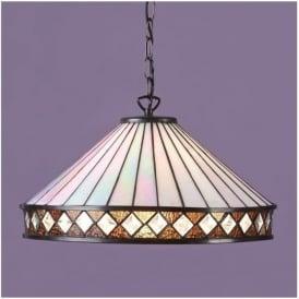 64147 Fargo 1 Light Tiffany Ceiling Pendant