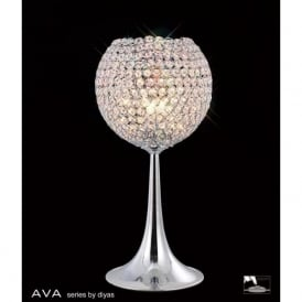 IL30194 Ava 3 Light Table Lamp Polished Chrome