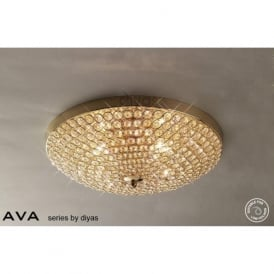 IL30756 Ava 4 Light Flush Ceiling Light French Gold