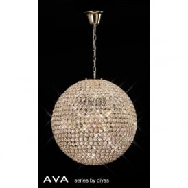 IL30754 Ava 9 Light Pendant French Gold