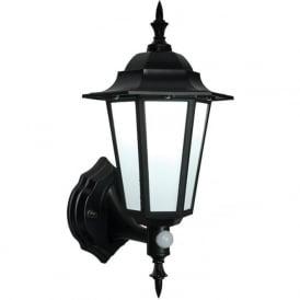 54555 Evesham PIR Outdoor Sensor LED Wall Light Black IP44