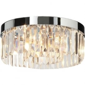 35612 Crystal Bathroom Semi-flush Ceiling Light Polished Chrome IP44