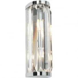39629 Crystal Bathroom Wall Light Polished Chrome IP44
