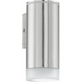 92735 Riga LED 1 Light LED IP44 Wall Light Stainless Steel