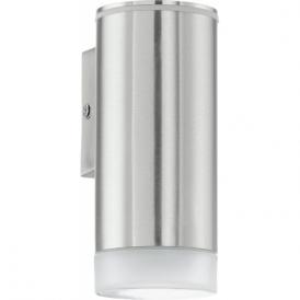 92735 Riga LED 1 Light LED IP44 Wall Light Stainless Steel