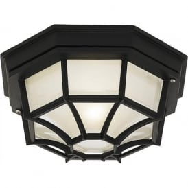 YG-0100-BL Parkway Outdoor Flush Porch Light Black IP44