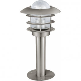 30182 Mouna 1 Light IP44 Post Lamp Stainless Steel