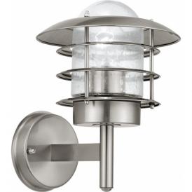 30181 Mouna 1 Light IP44 Wall Light Stainless Steel