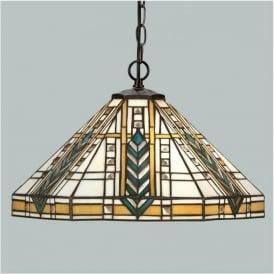 64238 Lloyd 1 Light Tiffany Ceiling Pendant