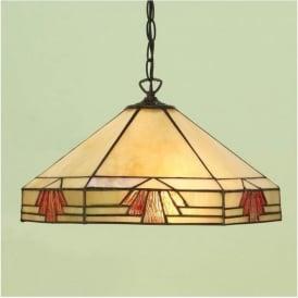 64285 Nevada 1 Light Tiffany Ceiling Pendant