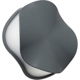 EL-40100 Scoop Outdoor LED Wall Light IP54 Grey