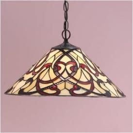 64320 Ruban 1 Light Tiffany Ceiling Pendant