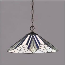 63937 Astoria 1 Light Tiffany Ceiling Pendant