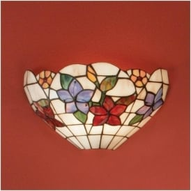 64032 Country Border 1 Light Tiffany Wall Light