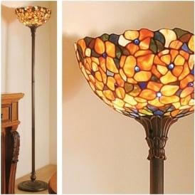 64208 Josette 1 Light Tiffany Uplighter