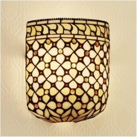 64280 Mille Feux 1 Light Tiffany Wall Light