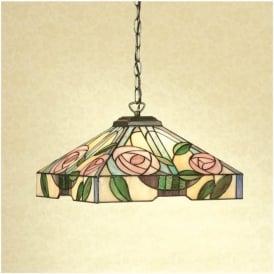 64385 Willow 1 Light Medium Tiffany Ceiling Pendant