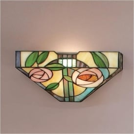 64389 Willow 1 Light Tiffany Wall Light