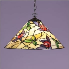 64305 Prairie 1 Light Tiffany Ceiling Pendant