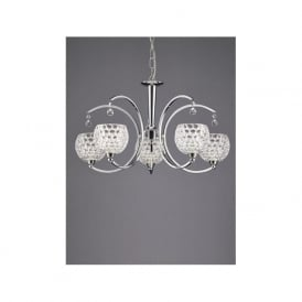 FL2339/5 Omni 5 Light Ceiling Light Light Polished Chrome