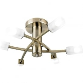 146-6AB Havana 6 Light Ceiling Light Antique Brass