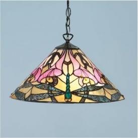 63923 Ashton 1 Light Tiffany Ceiling Pendant