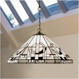 64259 Metropolitan 1 Light Tiffany Ceiling Pendant