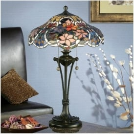 64326 Sullivan 2 Light Tiffany Table Lamp